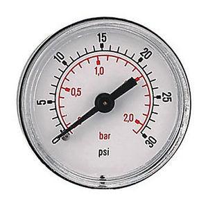 đồng hồ đo áp suất hiển thị đơn vị đo áp suất bar và psi