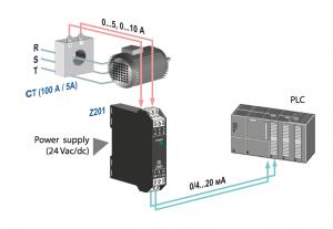 ứng dụng bộ chuyển đổi tín hiệu 0-5A sang 4-20mA