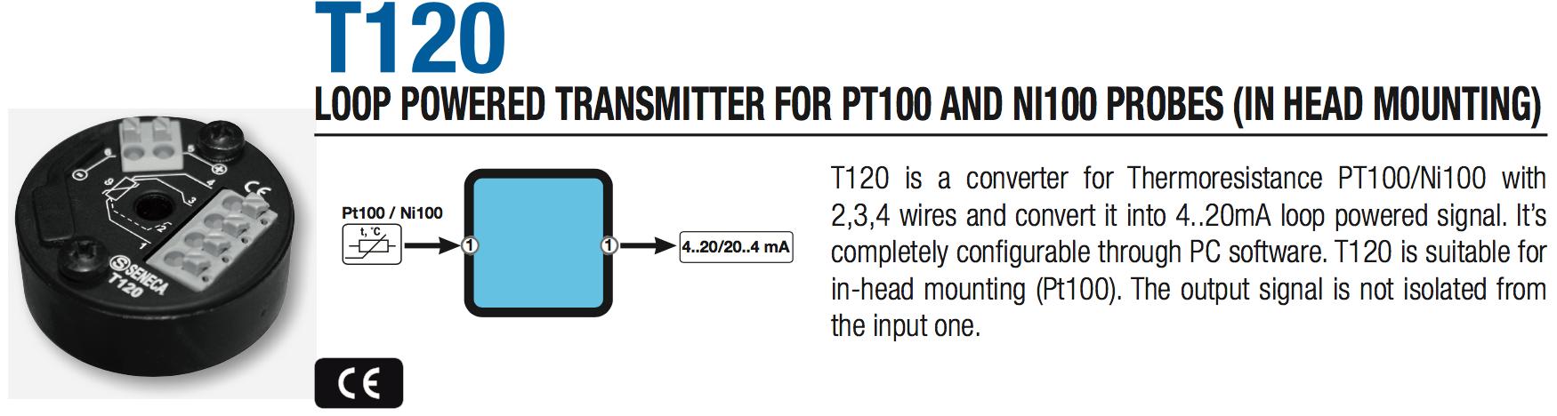 bộ chuyển đổi tín hiệu Pt100 Seneca T120