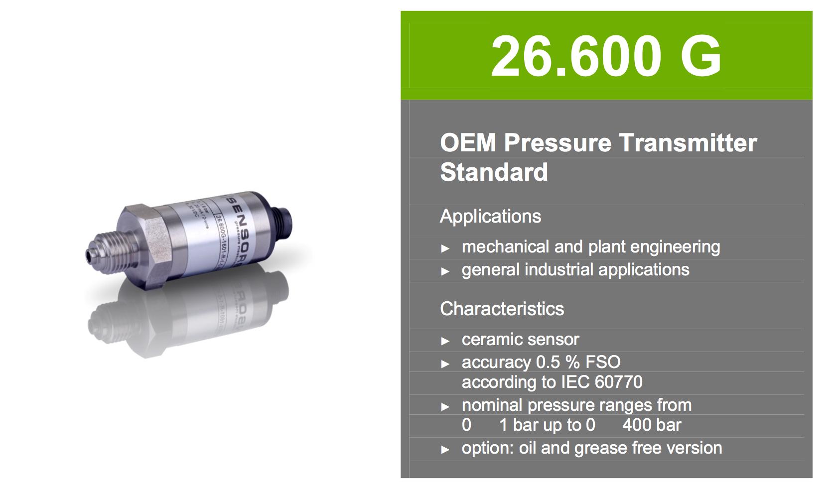 cảm biến áp suất 0-10 bar BD Sensors 26.600G
