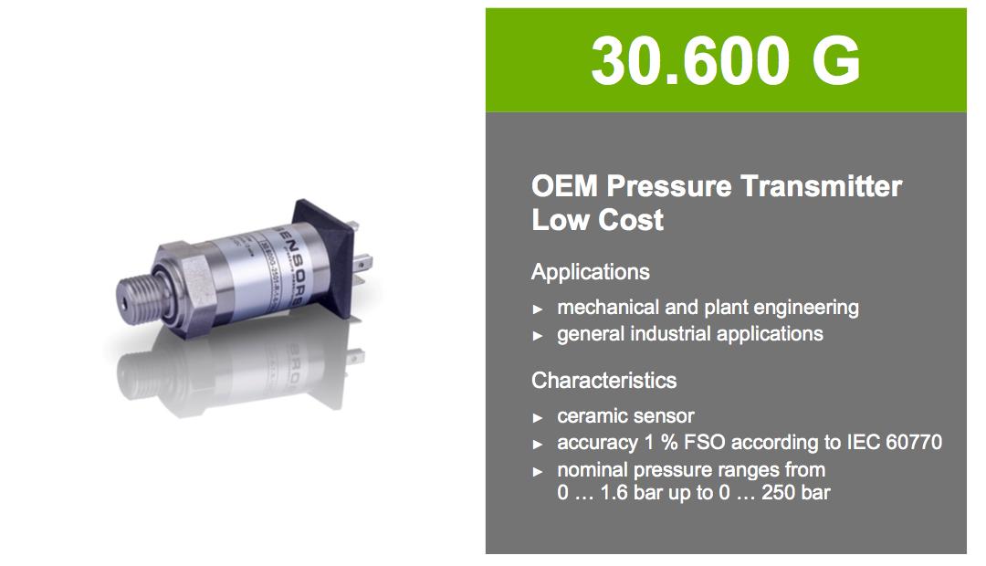 cảm biến áp suất 0-10 bar BD 30.600G giá rẻ