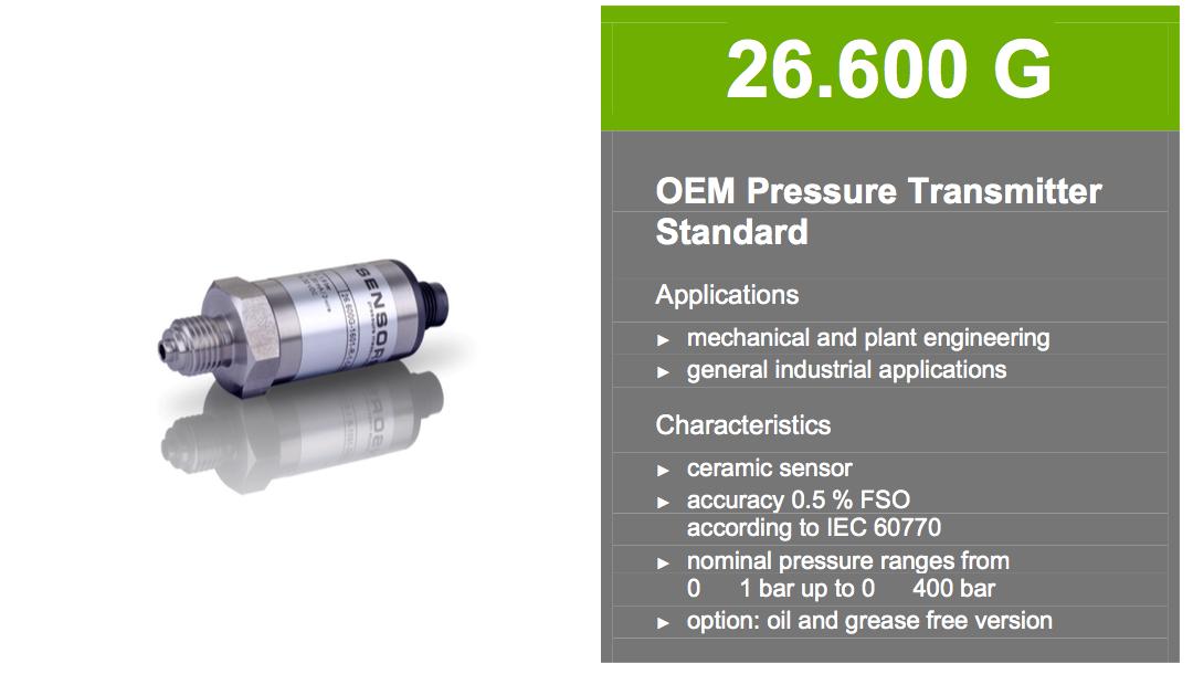 thông số kỹ thuật cảm biến áp suất 26.600G