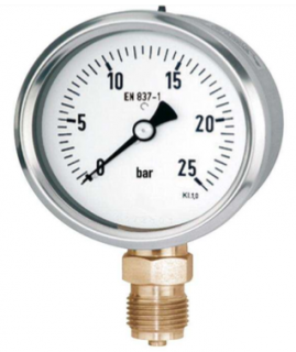 đồng hồ đo áp suất nước chân đồng stiko