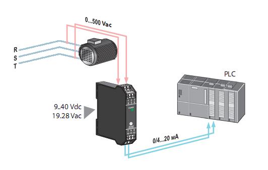 Chuyển đổi điện áp 110v-220v-380v-500v sang 4-20mA, 0-10v