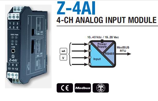 bộ chuyển đổi Analog 4-20mA sang Modbus RTU
