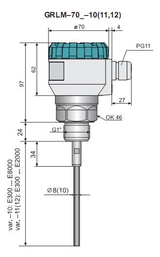Cảm biến đo mức chất lỏng - chất rắn Radar