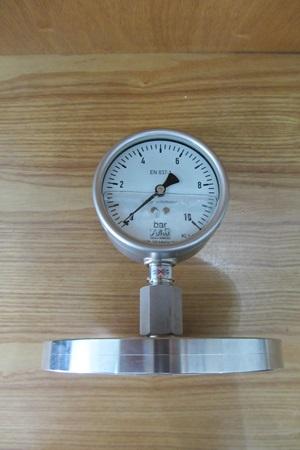 Đồng hồ đo áp suất dạng màng Flange