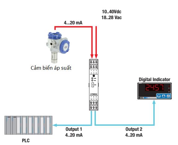 Cách đấu dây cảm biến áp suất