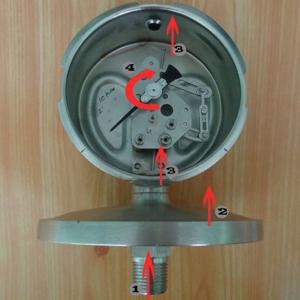 cấu tạo đồng hồ đo áp suất màng