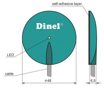 cách lắp cảm biến trên bề mặt kính