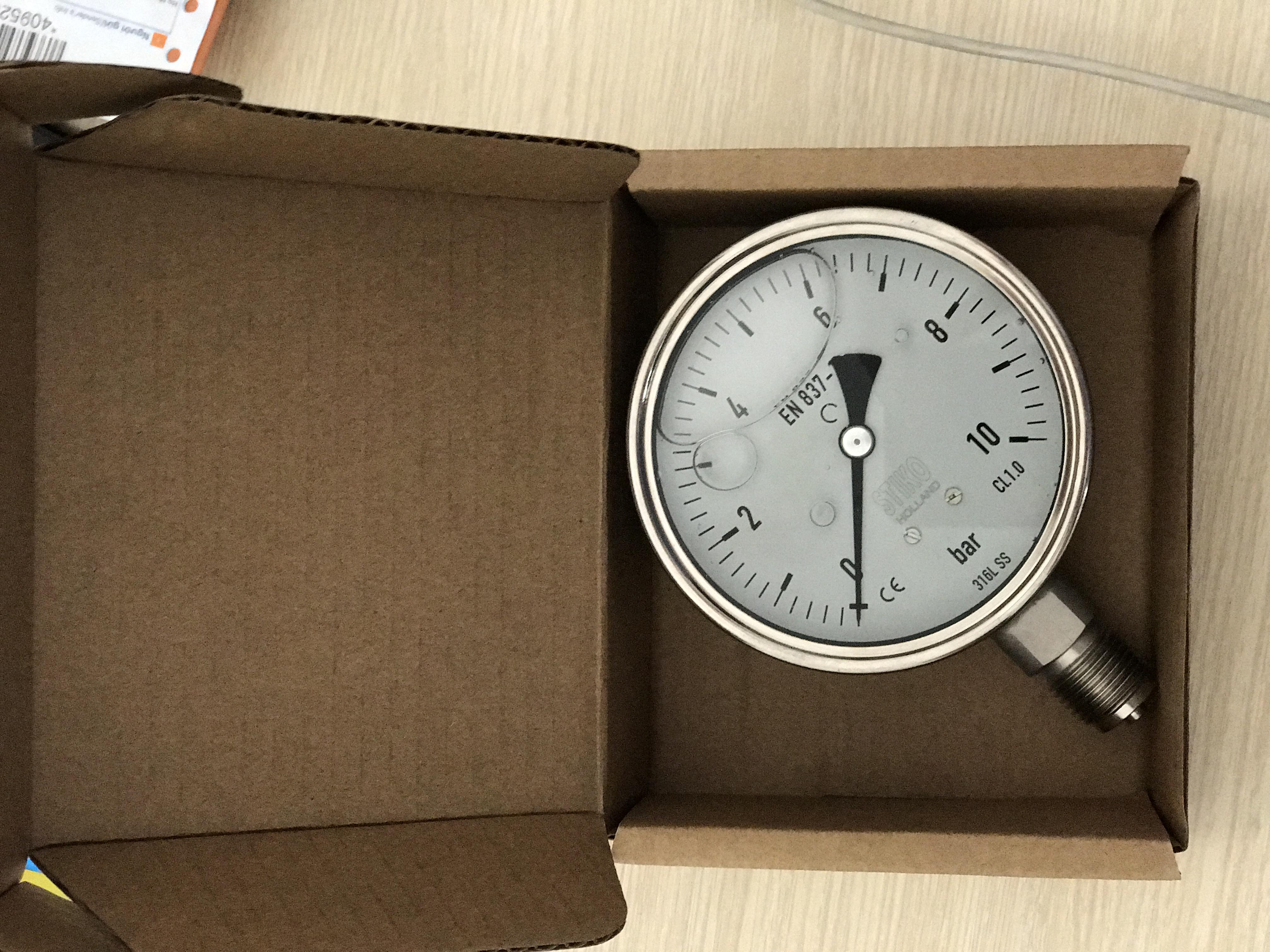 cấu tạo đồng hồ đo áp suất stiko