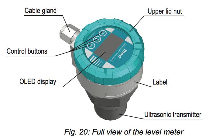 màn hình hiển thị cảm biến đo mức nước