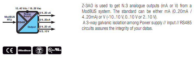 chuyển đổi tín hiệu Modbus sang 4-20mA