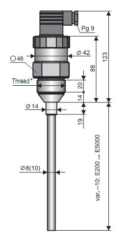Cảm biến đo mức chất lỏng, chất rắn CLM36-10