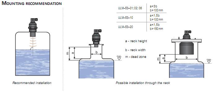 cảm biến đo mức nước ULM53-01