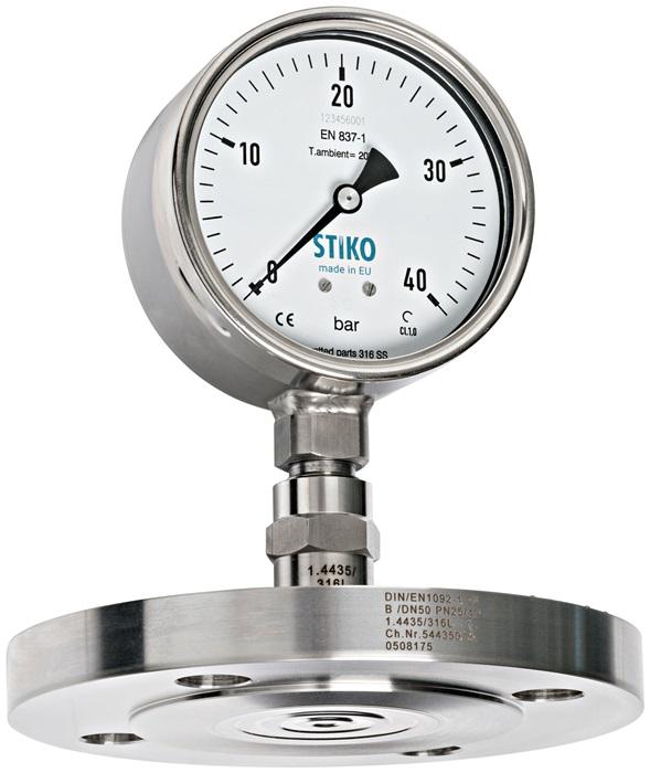 Đồng hồ áp suất dùng cho hóa chất