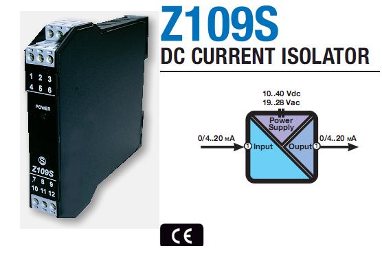 Bộ cách ly tín hiệu analog 4-20mA Z109S