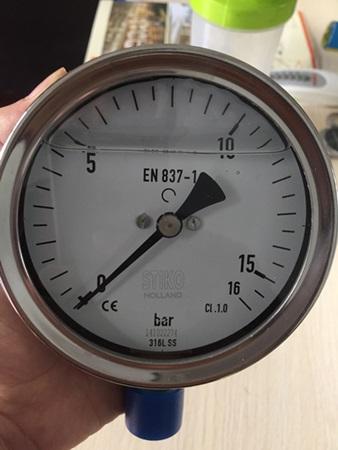 Đồng hồ đo áp suất 0-16bar