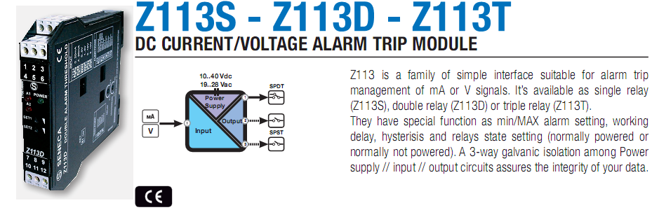 Chuyển đổi tín hiệu 4-20mA, 0-10v sang relays SPST