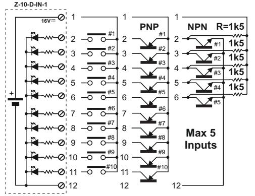 Bộ chuyển đổi tín hiệu PNP, NPN sang Modbus