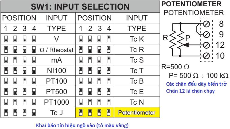 Bộ chuyển đổi tín hiệu biến trở 4-20mA, 0-10v