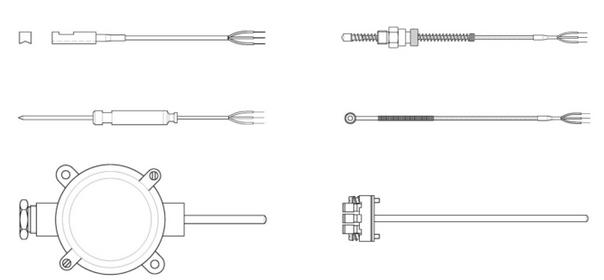 Các loại dây dò nhiệt PT100