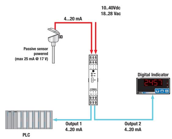 Bộ cách ly chống nhiễu tín hiệu 4-20mA, 0-10v Z170REG-1