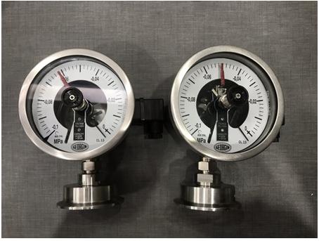 Đồng hồ áp suất màng 3 kim