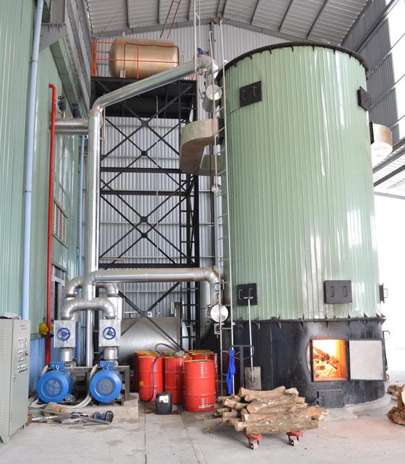Lò hơi đốt củi dầu tải nhiệt
