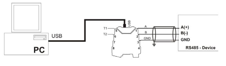 Ứng dụng bộ chuyển đổi RS485 sang USB