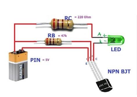 Mạch đóng ngắt dùng transistor