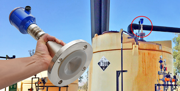 Cảm biến radar đo mức nước