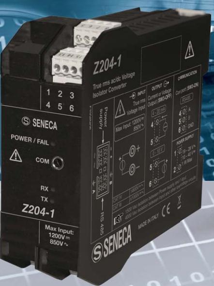 bộ chuyển đổi điện áp 850vac, 1200vdc sang 4-20mA, 0-10v