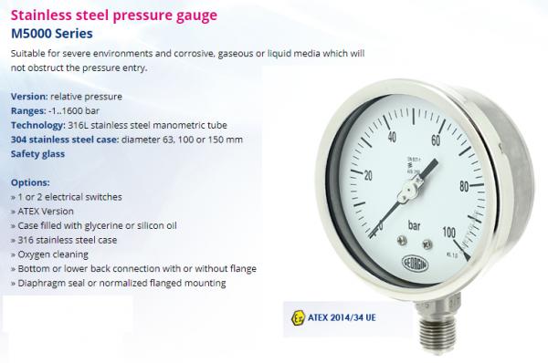Đồng hồ đo áp suất khí gas