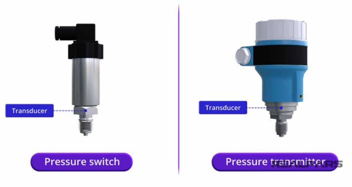 So sánh công tắc áp suất với cảm biến áp suất